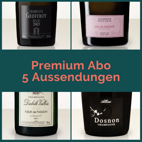 Premium subscription - 5 mailings with 2 bottles each