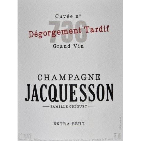 Jacquesson Brut 736 DT Dégorgement Tardif