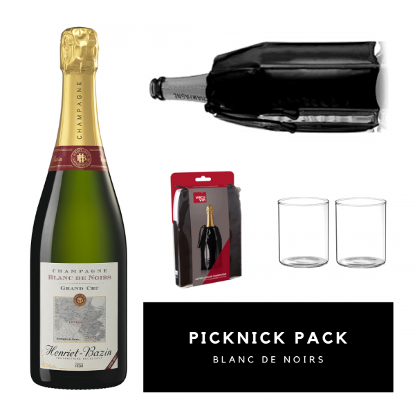 Picnic Pack Blanc de Noirs with cooling collar & glasses