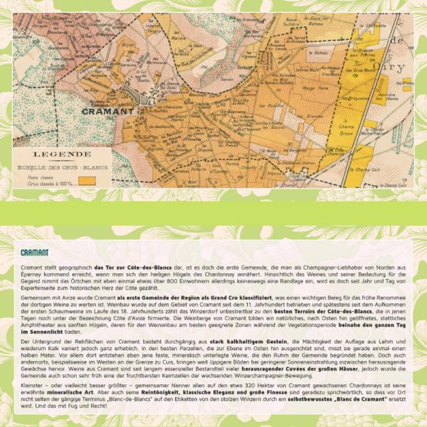 Regionskarte zum Champagne Ort Cramant