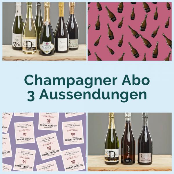 Champagner Abo - 3 Aussendungen mit je 2 Flaschen