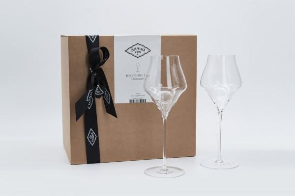 Josephine Champagnerglas im 2er Geschenkkarton