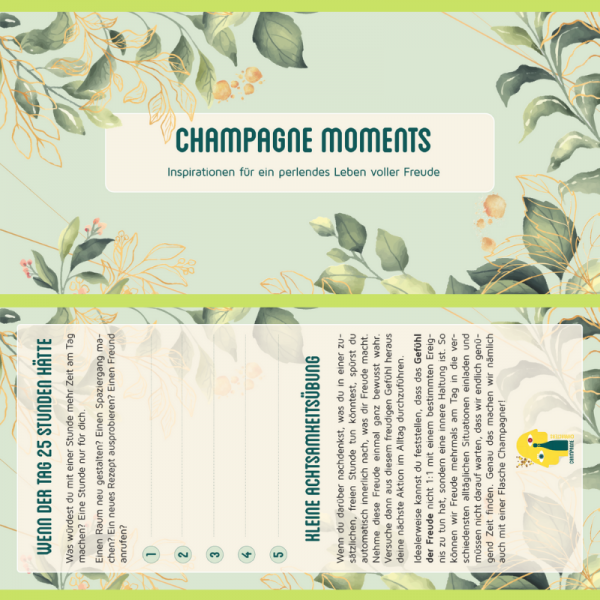 Inspirational Card Champagne Moments 1