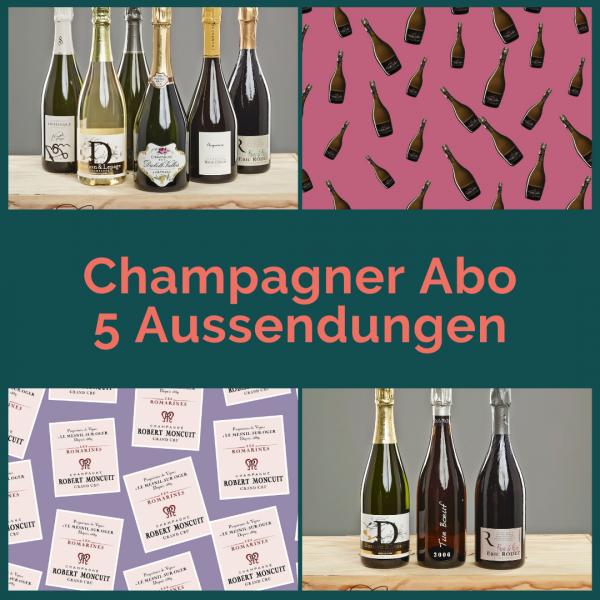 Champagner Abo - 5 Aussendungen mit je 2 Flaschen
