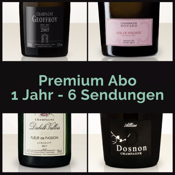 Premium subscription for 1 year: 6 mailings with 2 bottles each