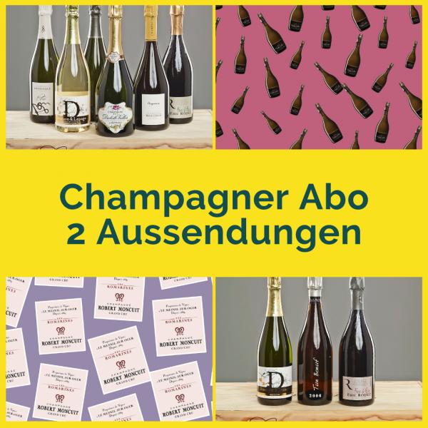 Champagner Abo - 2 Aussendungen mit je 2 Flaschen