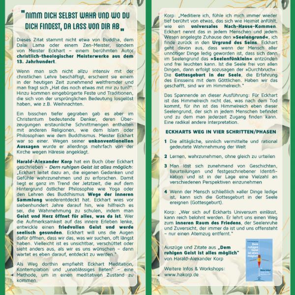 """Inspirationskarte """"Meister Eckhart"""""""