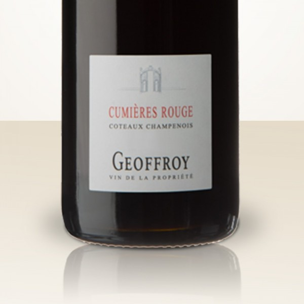 René Geoffroy Cumieres Rouge Millésime 2012 Pinot Noir