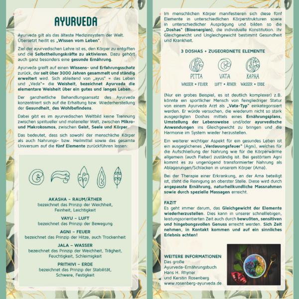 "Inspirationskarte ""Ayurveda"""