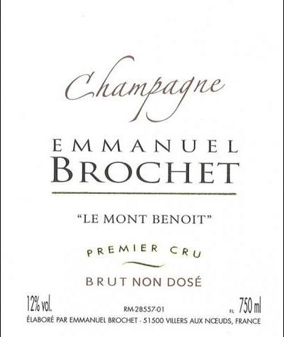 Emmanuel Brochet Le Mont Benoit Premier Cru Extra Brut L16