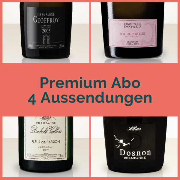Premium subscription - 4 mailings with 2 bottles each