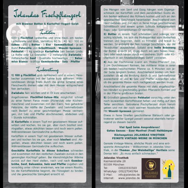 Rezeptkarte Jolandas Fischpflanzerln