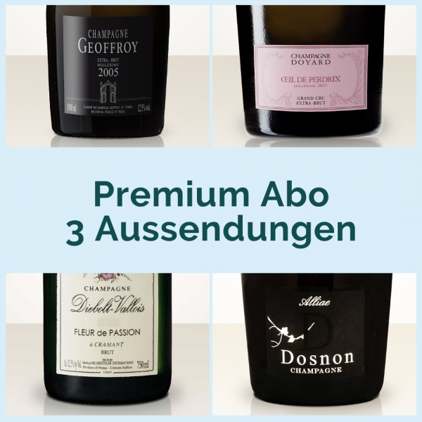 Premium subscription - 3 mailings with 2 bottles each