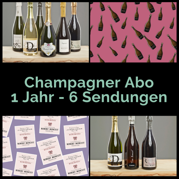 Champagne Subscription 1 year - 6 shipments with two bottles
