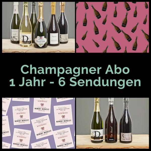Champagner Abo 1 Jahr - 6 Aussendungen mit je 2 Flaschen